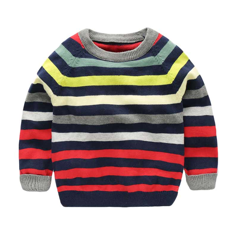 Fashion Striped Knit Sweater for Kids
