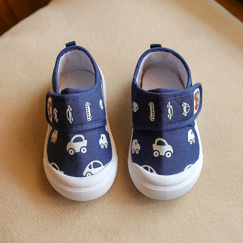 Cool Cars Pattern Velcro Shoes for Baby and Toddler
