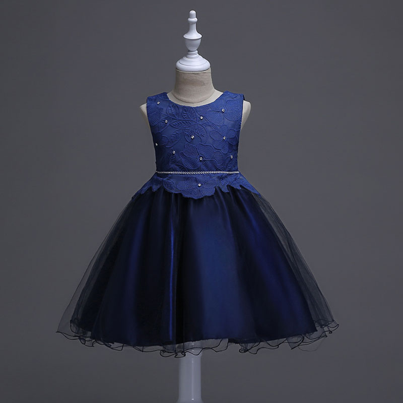 Image of Exquisite Floral Tulle Bowknot Sleeveless Dress for Toddler Girl/Girl