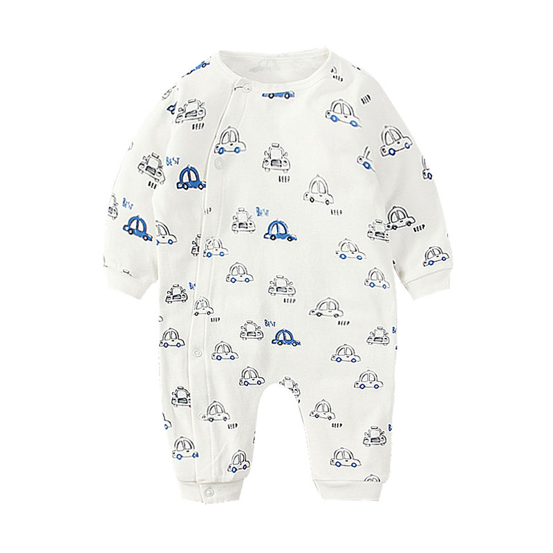 Cool Car Print Long-sleeve Jumpsuit for Baby