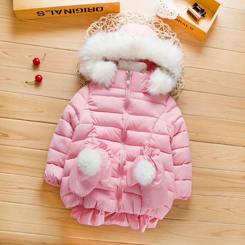 Solid Puffer Jacket for Baby and Toddler Girls