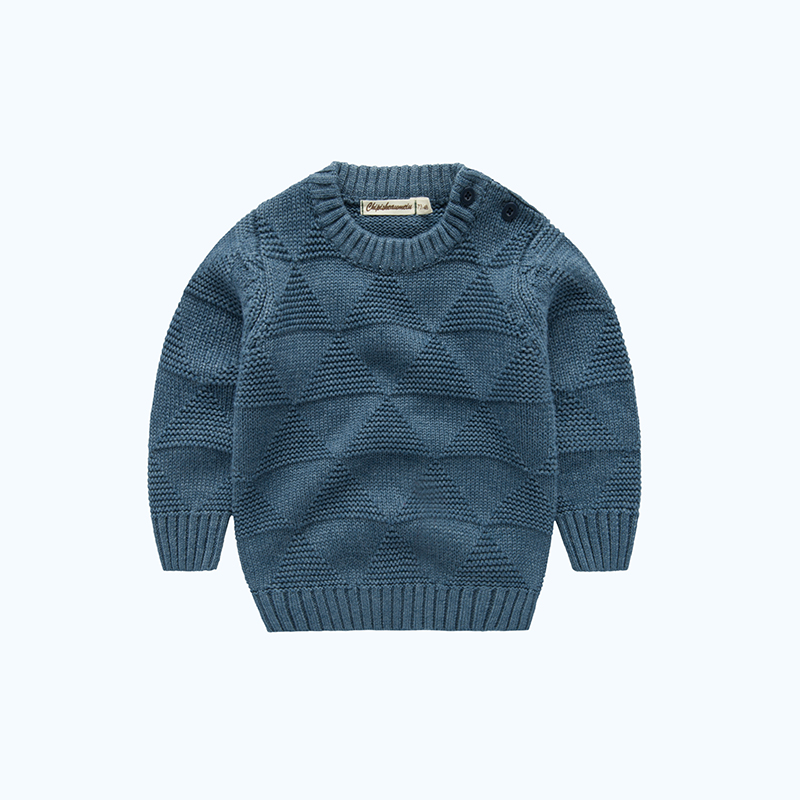 Rib-knit Geo Shape Knitted Top for Kids