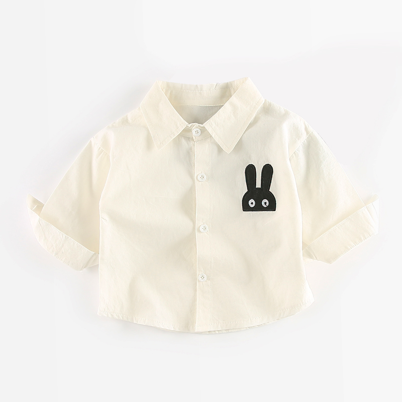 Comfy Rabbit Embroidery Long-sleeve Shirt for Baby