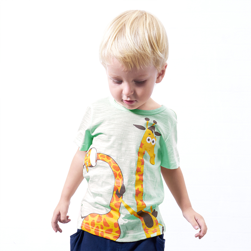 Baby and Toddler's Playful Giraffe Cotton Tee