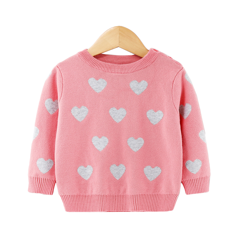 Love Print Long-sleeve Knitted Top for Little Girls