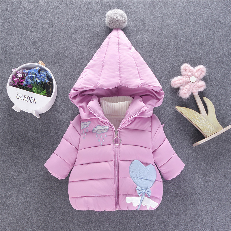 Baby Girl's Cute Cloud Quilted Puffer Jacket