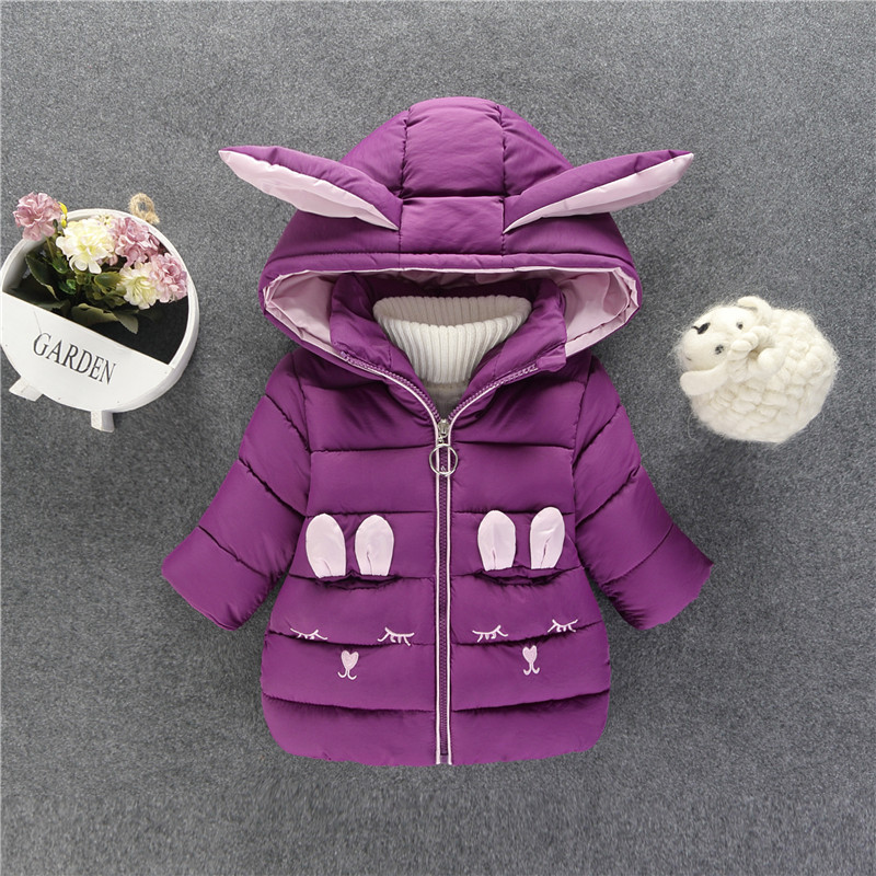 Baby Girl's  Lovely Bunny Quilted Jacket