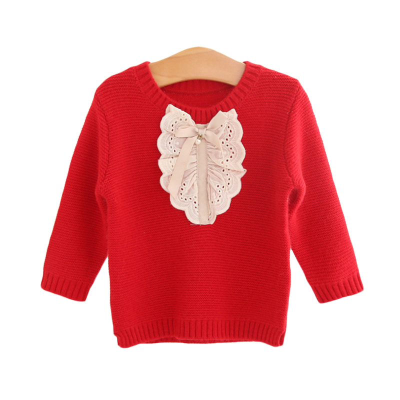 Baby Girl's Sweet Lace Eyelet Sweater